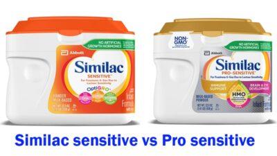 Similac sensitive vs Pro sensitive