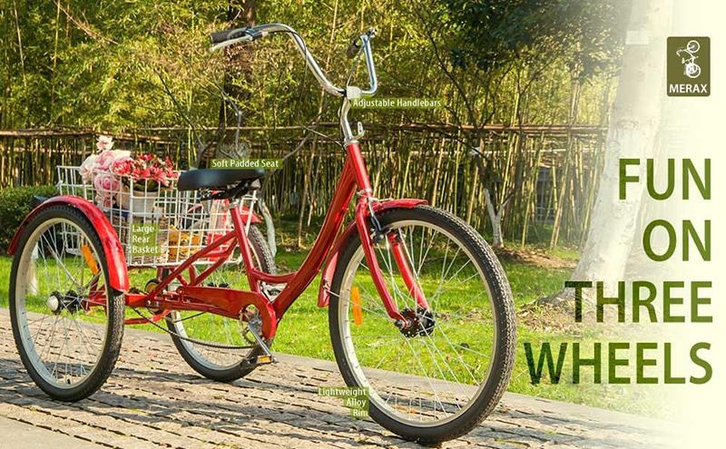 3 wheel bikes for seniors, fun on three wheels