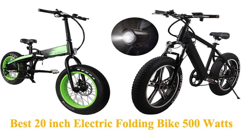 Best 20 inch Electric Folding Bike 500 Watts